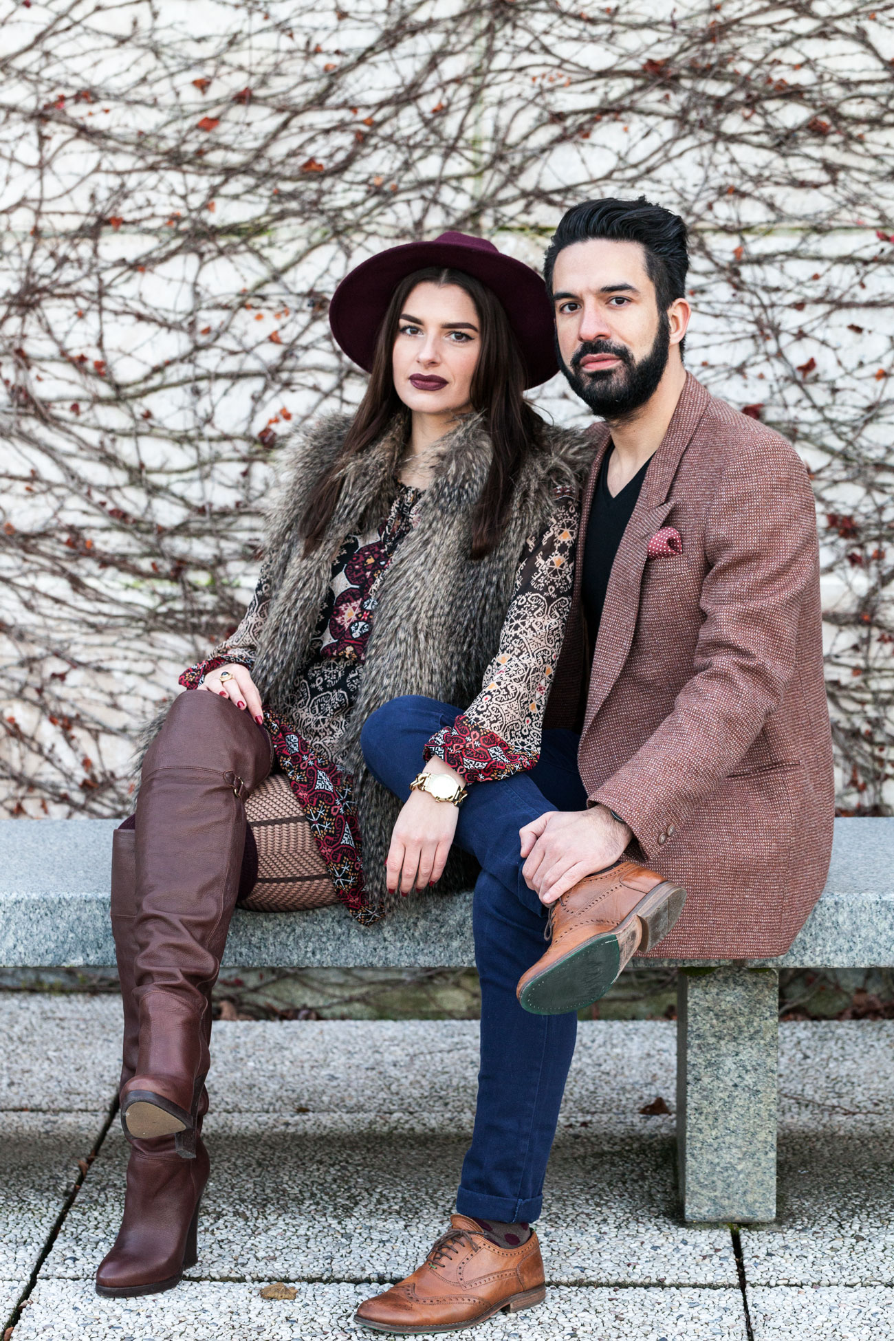 Fashion Couple Smiling