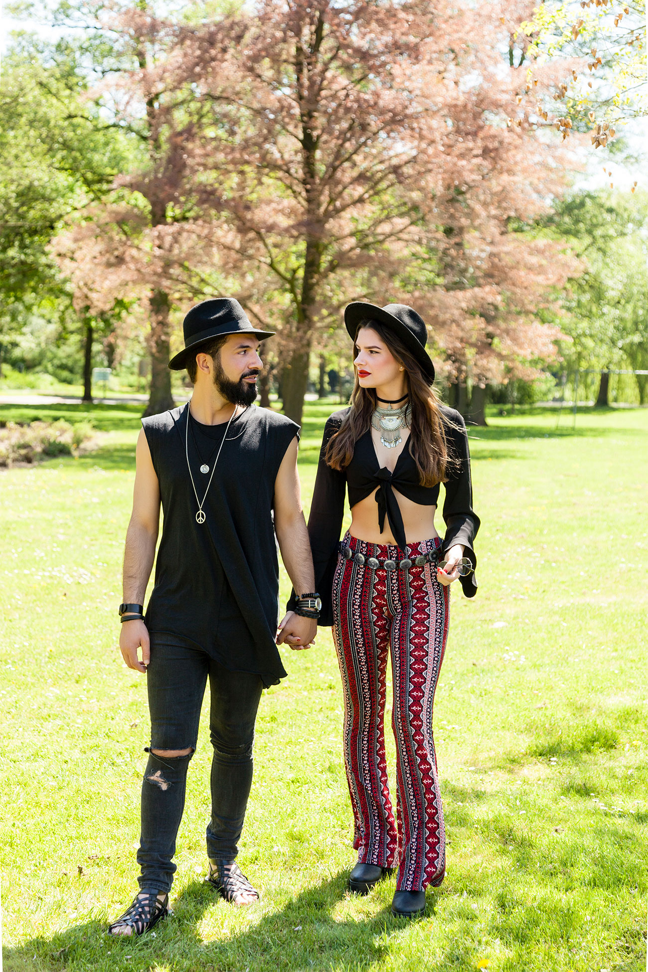Bohemian Fashion Couple