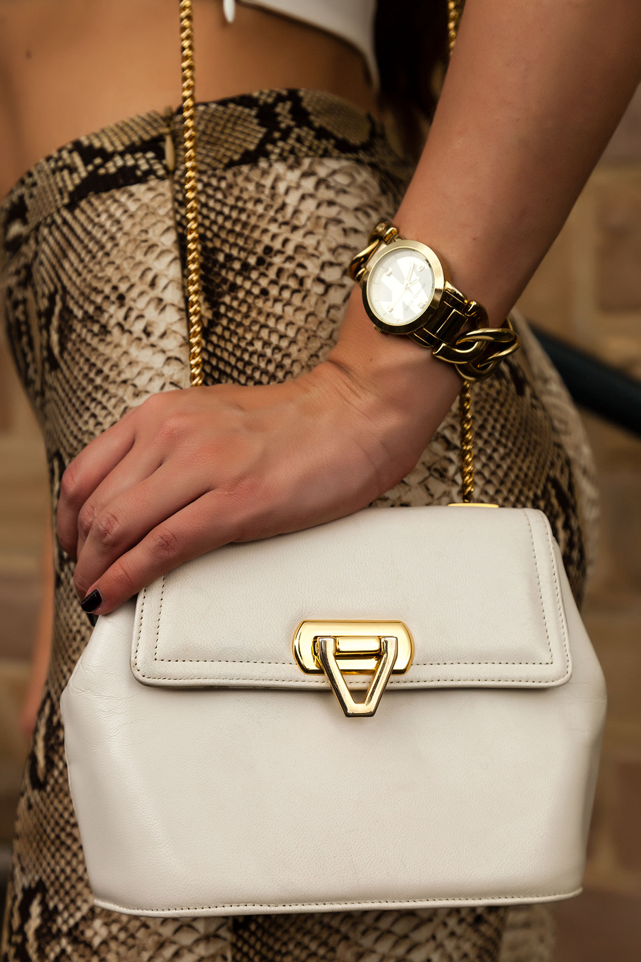 Small White Leather Bag